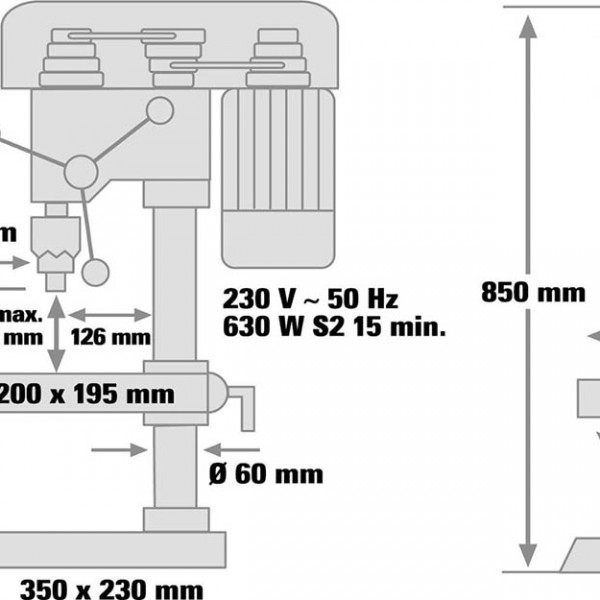 Trapano a colonna Einhell BT-BD-701T